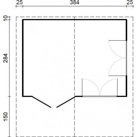 Medidas Caseta England1, 40mm, 404 x 304 cm, 12.28m²