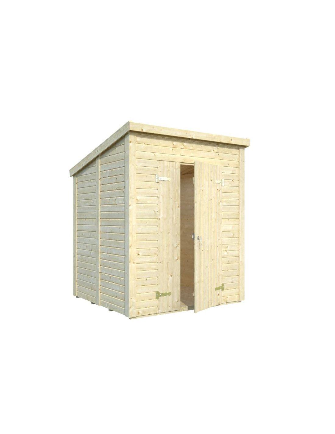 Cobertizo de madera leif 2 palmako for Cobertizo de jardin de techo plano de pvc
