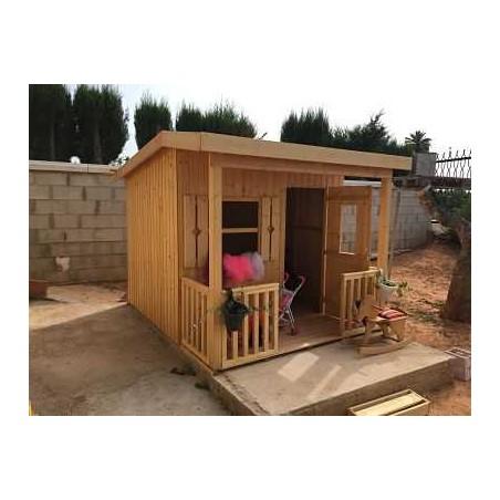 Casita de madera infantil Aksel - Instalada en el jardín