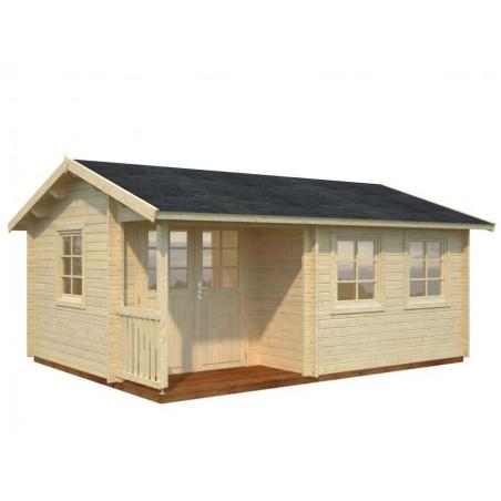 Caseta de madera- Susanna, 44 mm, 530 x 400 cm. 21,2 m²