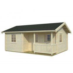 Casa de madera Sandra 21,5+3,7 m²