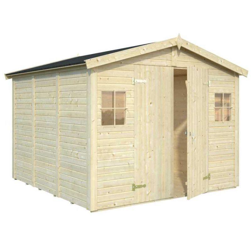 Cobertizo de madera para jardín Dan 7 m2 - Hortum