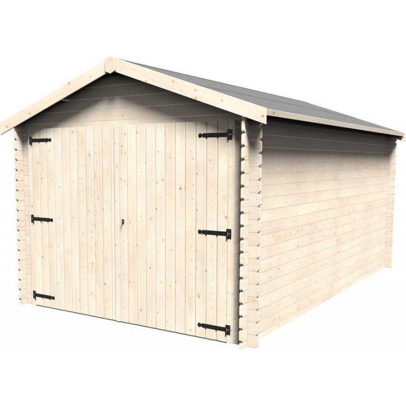Garaje de madera para vehículos modelo Gala