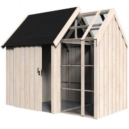 Caseta de madera acristalada en Hortum