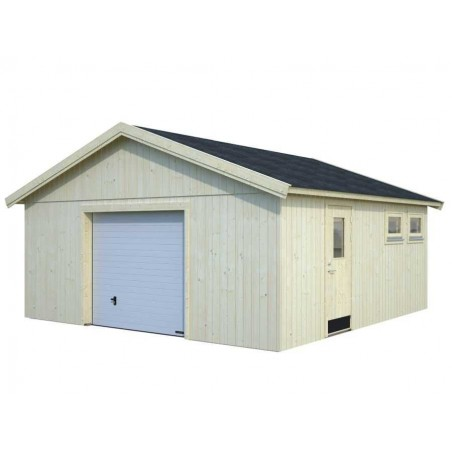 Garaje de madera con puerta mecánica - Andre
