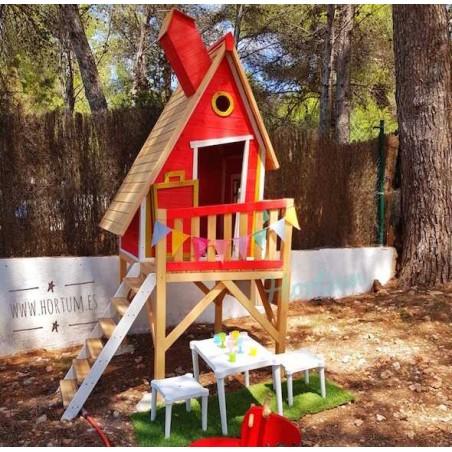 Casita infantil de madera Gulliver - Color Rojo