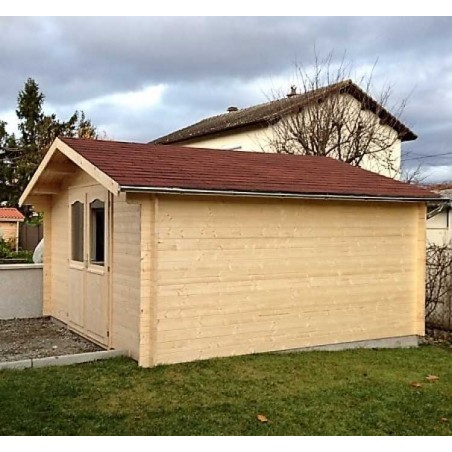 Caseta de madera 16m2 - Caseta 4x4 m - Caseta con tejas