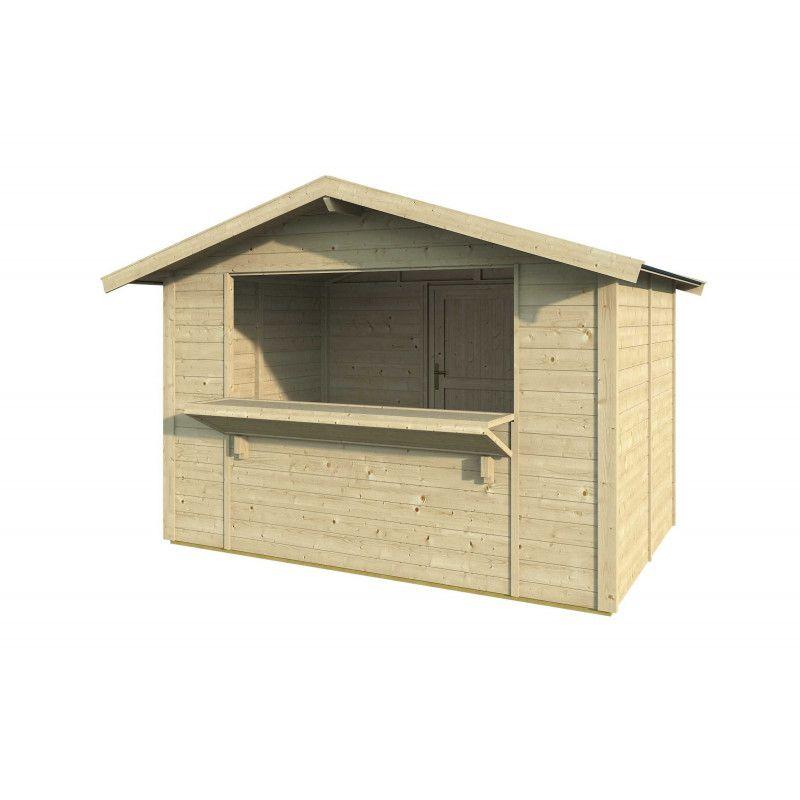 kiosco Spritz de madera 3x2m / 19mm