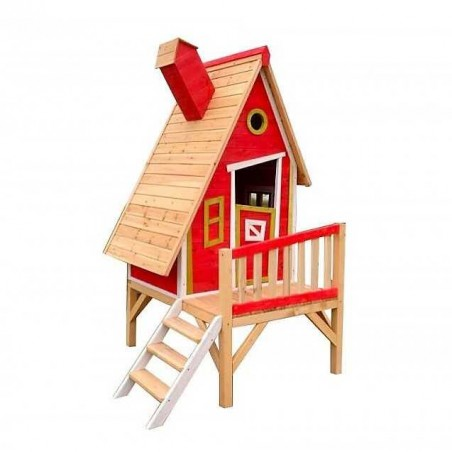 Casita de madera Infantil Gulliver - Color Rojo