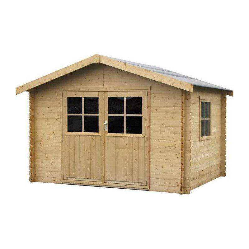 Caseta de madera para jardín con ventana lateral - Mod.Flodavil 28mm