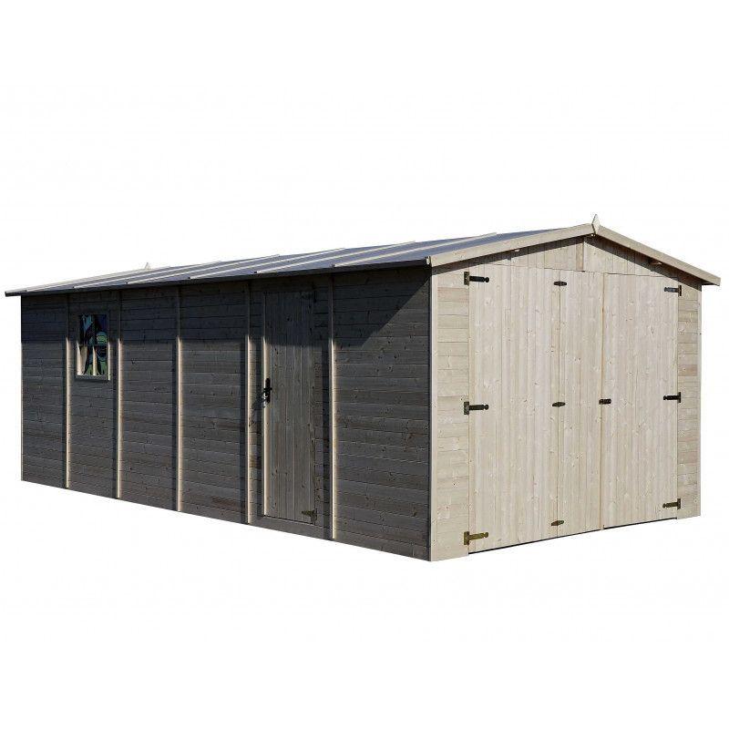 Garaje madera Mikhail II, 19 mm, 300x600 cm, 18m² - Fácil Montaje