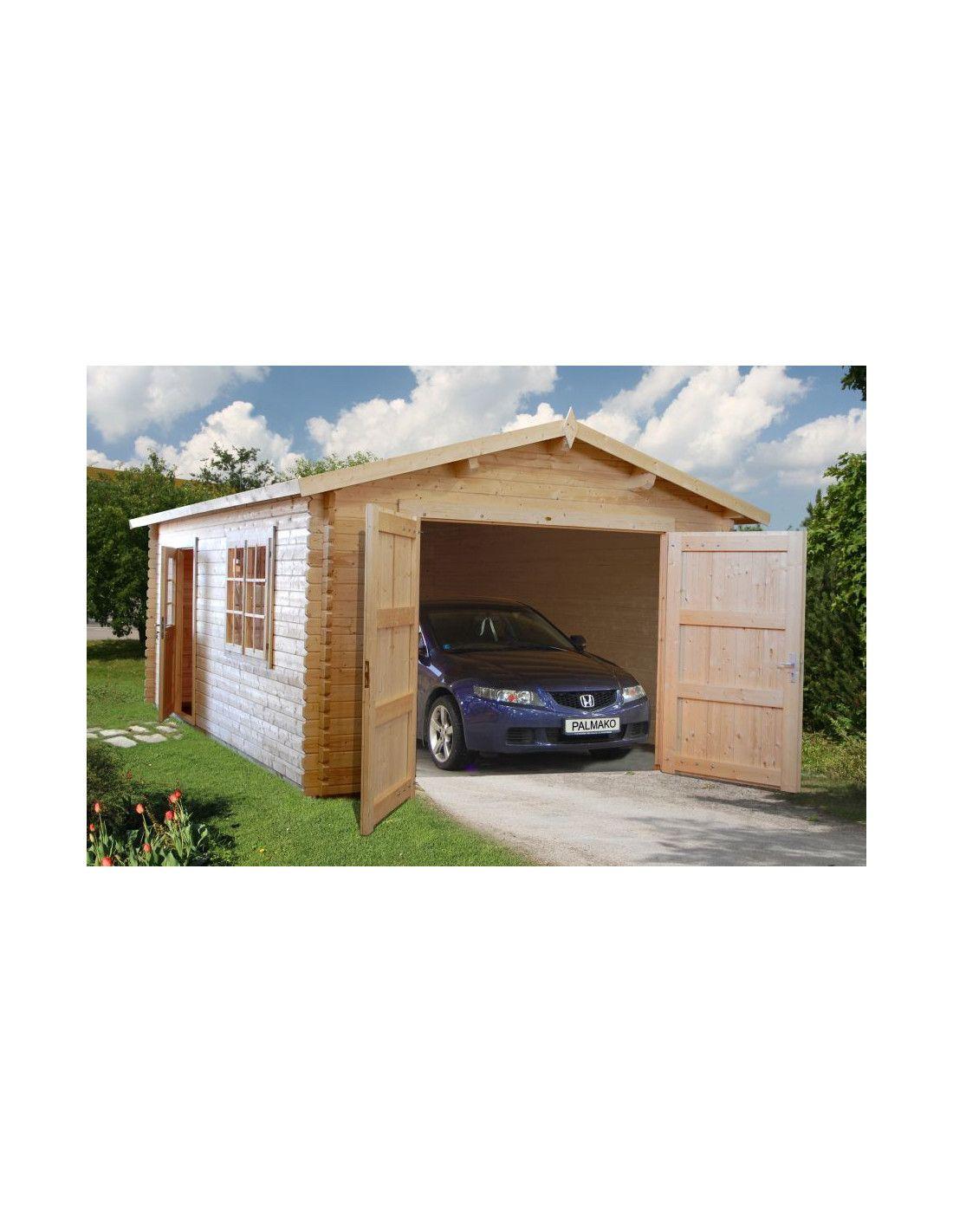 Garaje de madera mundaka 18 9m - Garajes prefabricados de madera ...