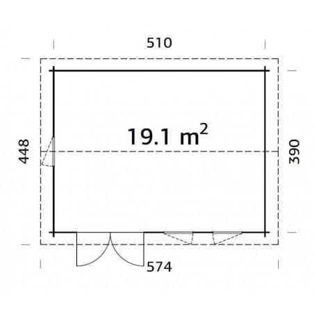 Iris, 44 mm, 410 x 320 cm, 19,1 m²