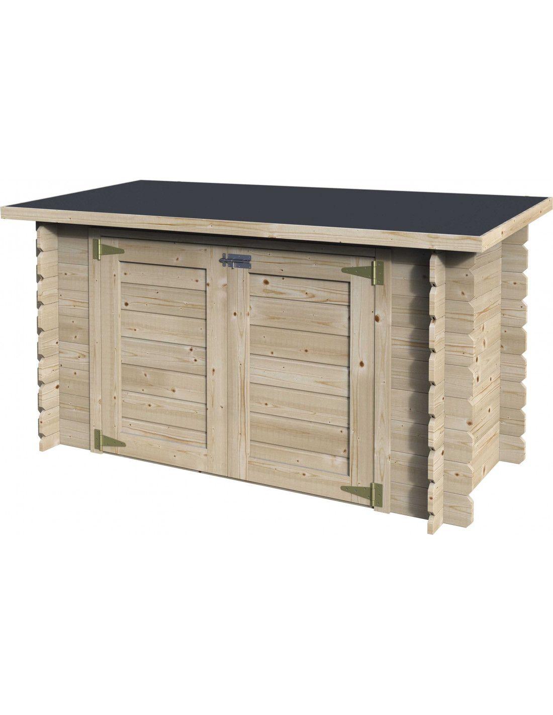Armario de madera ideal para piscinas - Armario de madera para exterior ...