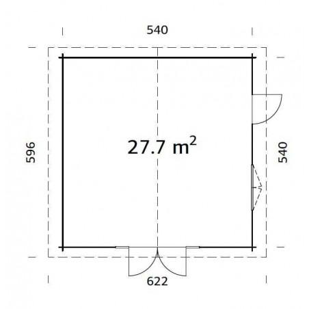 Caseta de Madera - Gran tamaño - Pared robusta de 7cm
