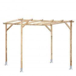 Pérgola madera 300x250 cm. Postes 7x7cm
