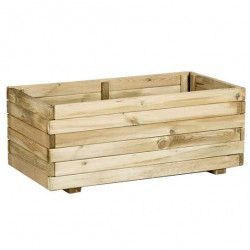 Jardinera de madera rectangular 80x40x32cm