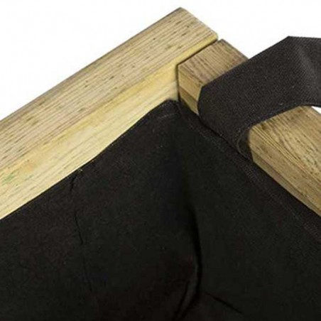 Jardinera de madera cuadrada