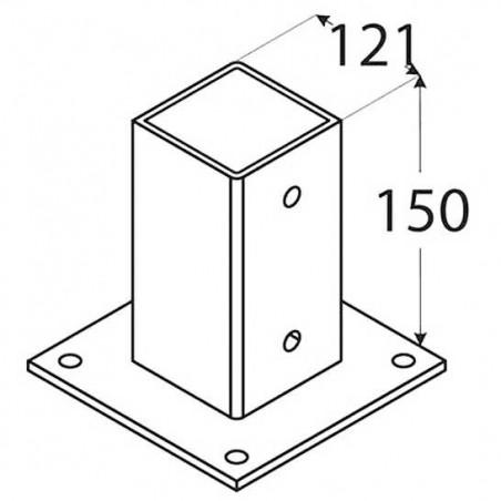 1 und. Anclaje 12x12 cm