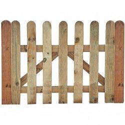 Puerta valla de madera clásica