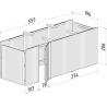 Almacén pérgola de madera 40,6 m²