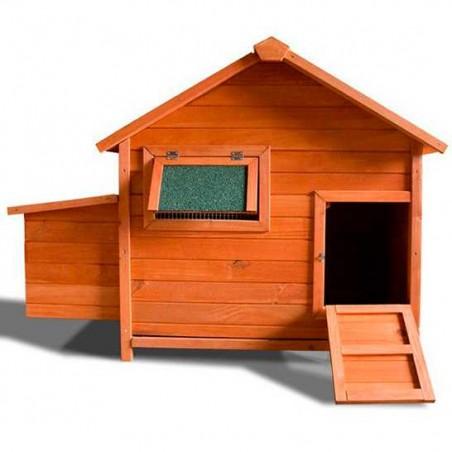 Gallinero de madera Ohio 136x90x99 cm