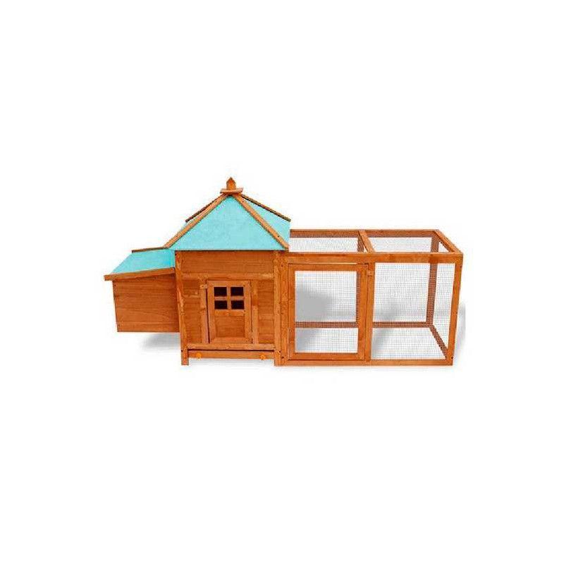 Gallinero de madera Indiana 196x73,5x98 cm