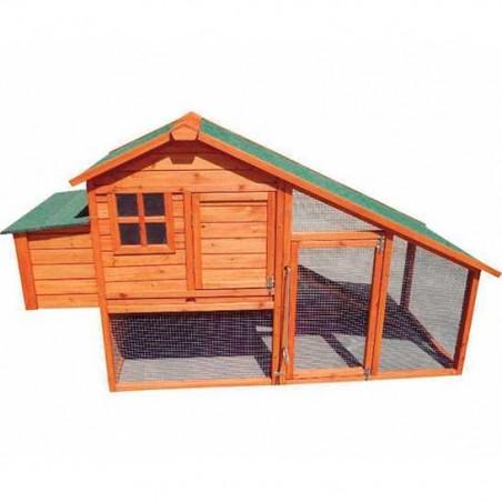 Gallinero de madera Iowa 190x77,5x112 cm