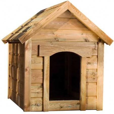 Caseta madera para mascotas | 88,5x64x105cm