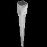 4 unids. Pletinas con punta 10x10 cm