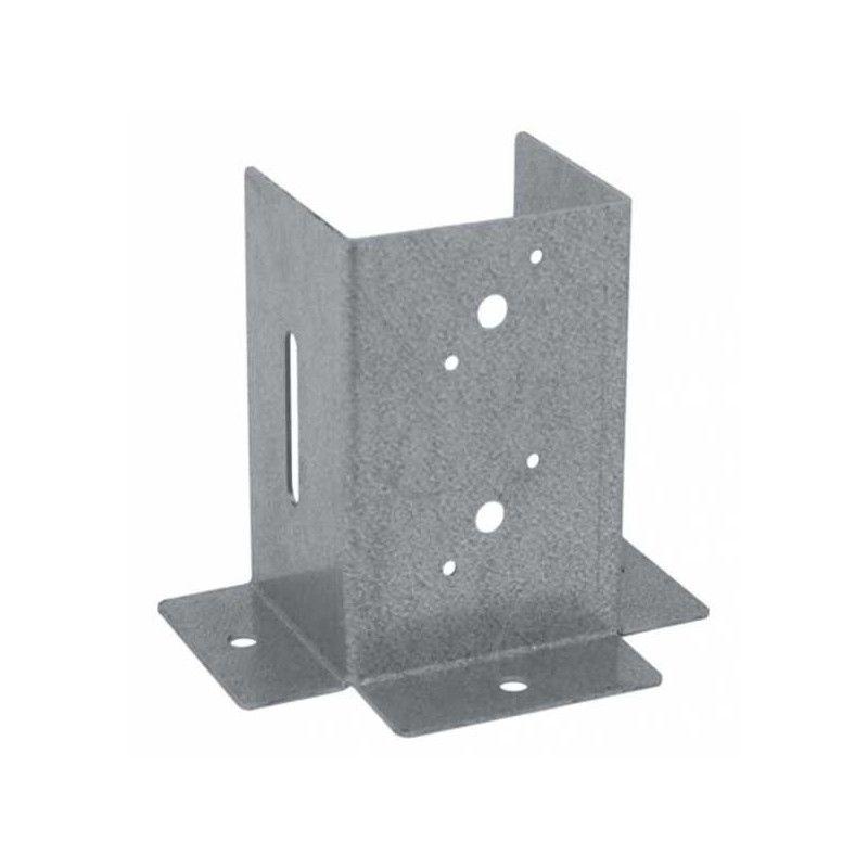 Pletina cuadrada ajuste vertical 7x7 cm