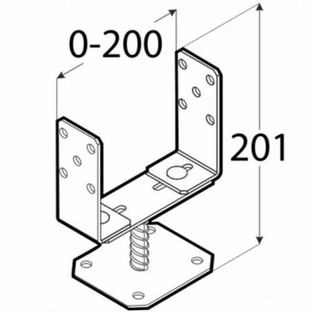 1 und. Soporte ajustable 0-20 cm