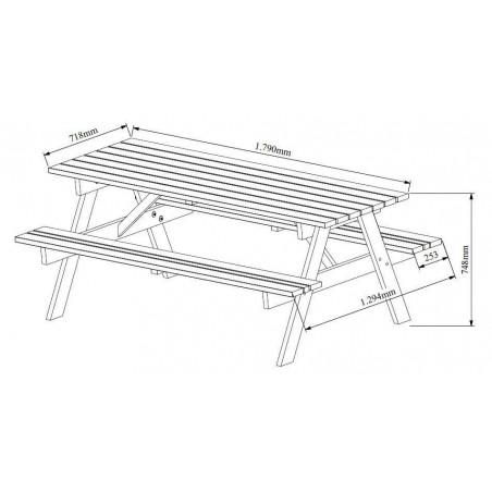 mesa madera campestre