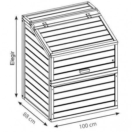 Caseta para piscinas 100 x 88 cm