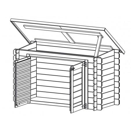 Caseta de madera para piscina