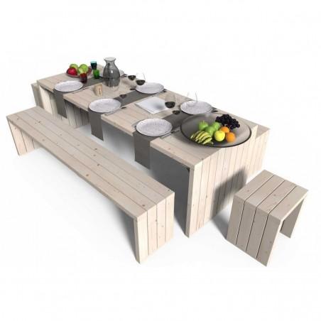 Mesa madera Picnic Line. 44mm,  233 x 84 cm