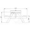 Mesa Ruby24. 44 mm, 161 x 239 cm - Marrón