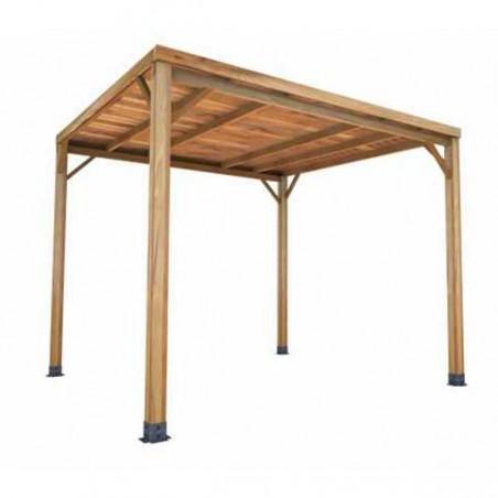Pérgola de madera techada 300x300cm. Poste 10x10cm