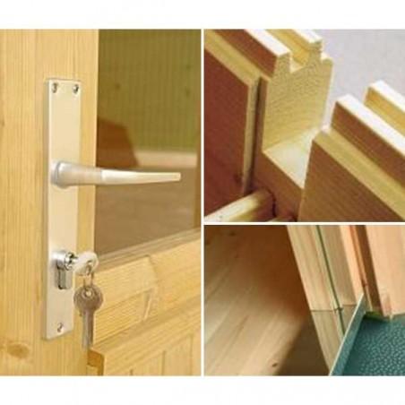 Cobertizo de madera Ralf 28 mm, 296 x 380 cm, 9,6 m²