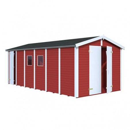 Garaje de madera Dan 16mm. 273x550 cm. 14,2 m²