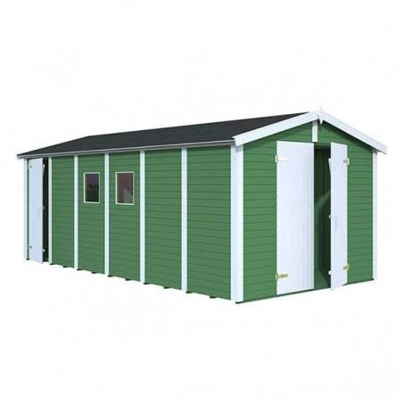Garaje madera prefabricado Dan 16mm. 273x550 cm. 14,2 m²