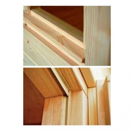 Caseta de madera Bret 14,8 m² | Detalles puertas y ventanas