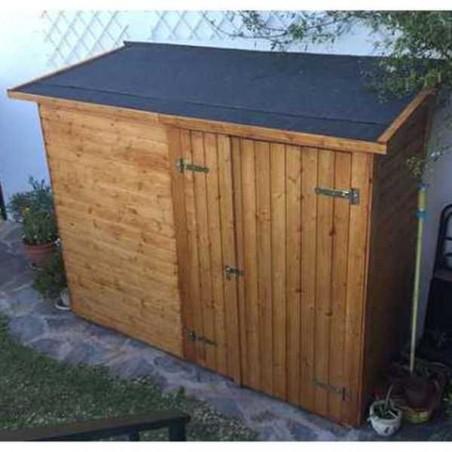 Armario de madera para jardín | Leif 234 x 95 cm