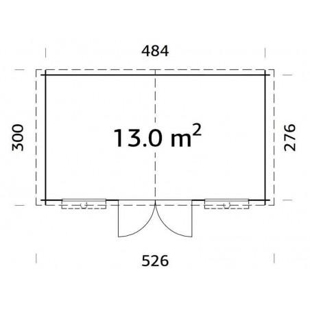 Caseta de Madera Lodz. 13 m² | Promoción Especial Casetas Palmako