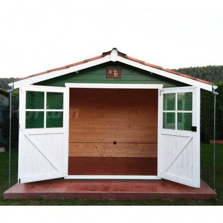 Caseta jardín Flodavil. 28 mm, 324 x 268 cm. 8.68 m²