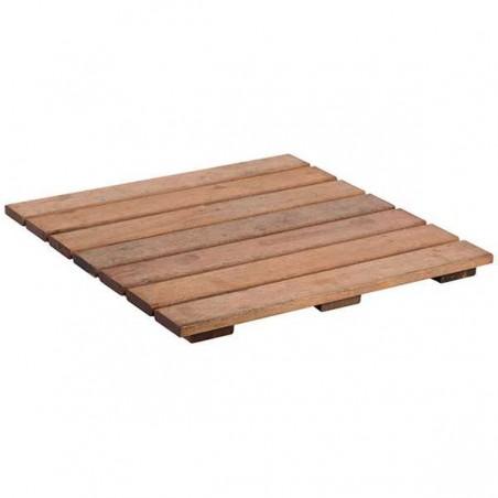 Loseta de madera tropical tratada 50x50x3cm