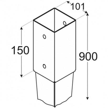 4 und. Piquetas metálicas tierra 10x10cm
