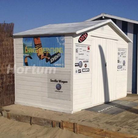 Caseta de madera para playa Lopun. 12 mm, 272 x 182 cm. 4.96 m²