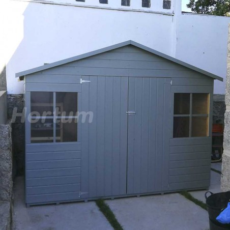 Caseta de madera Lopun Pintada color azul. 12 mm, 272 x 182 cm. 4.96 m²