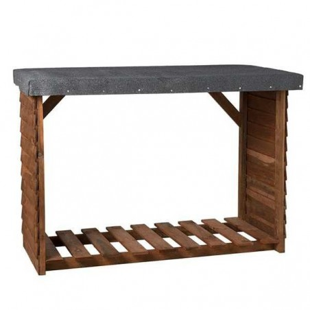 Leñero de madera Sol |140x100x60cm